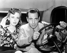 Ida Lupino and Humphrey Bogart in They Drive by Night, 1940