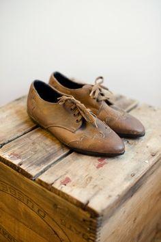 SALE Brown Leather Vintage Loafers Women's size por oldvintageshop