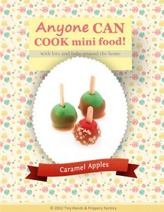 Get crafty and learn how to make miniature polymer clay caramel apples! This FREE PDF tutorial shows you step-by-step instructions with super clear photos! Polymer Clay Miniatures, Dollhouse Miniatures, Diy Dollhouse, Clay Tutorials, Miniature Tutorials, Barbie Food, Fairy Crafts, Clay Food, Mini Foods