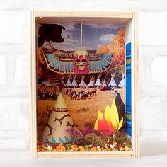 The First Thanksgiving Shadowbox | Moomah the Magazine