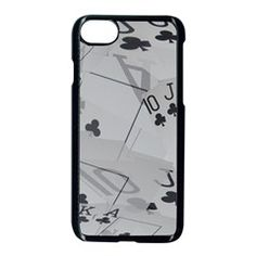 Royal Club Flush,  Apple iPhone 7 Seamless Case (Black) from ArtsNow.com Front