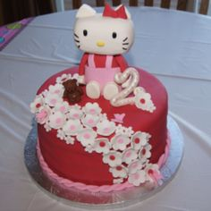 Yummy Hello Kitty Cake! my birthday is less than a month away. who cares if im turning 32.