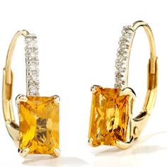 November Birthstone: Topaz Topaz Jewelry, Topaz Earrings, Gold Jewelry, Fine Jewelry, Cute Earrings, Earrings Photo, Mellow Yellow, Earrings Handmade, Birthstones