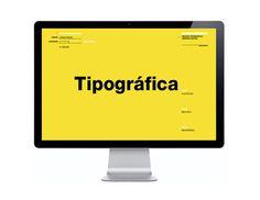 La Tipográfica by xoana herrera, via Behance