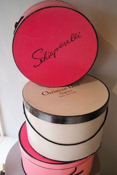 Elsa Schiaparelli + Christian Dior Hat Boxes