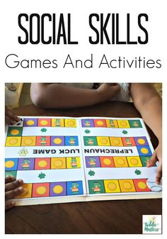 Social skills activities teach children how to make friends, problem solve friendship issues, share, take turns, etc. This St. Patrick's Day themed Leprechaun Luck social skills game is a fun way to help children learn and practice appropriate social skills.