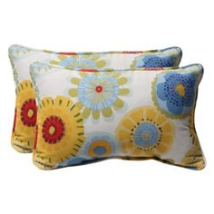 "Outdoor 2-Piece Rectangular Toss Pillow Set - 18"".Opens in a new window: a little expensive though"