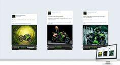 CONSÓRCIO KAWASAKI BRASIL - Conceituação e projeto gráfico e criação de abas (App) personalizadas. Geração de conteúdo e criação de posts personalizados. Social ADS para geração de LEAD de vendas.