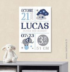 Ce tableau sera parfait pour faire un cadeau de naissance original et personnalisé ou pour décorer la chambre de votre bébé. Il sera du plus bel effet dans un cadre. MATÉR - 17248942