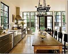 Beautiful contemporary-rustic kitchen; Rozanne Jackson My favorite kitchen!!