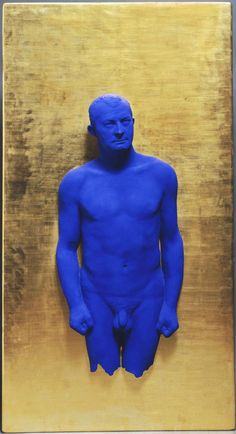 Portrait Relief I: Arman - Yves Klein, 1962 / Painted bronze on gilded panel