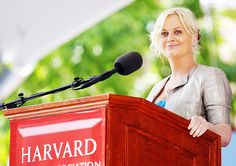 """This is what I want to say: When you feel scared, hold someone's hand and look into their eyes. And when you feel brave, do the same thing. You are all here because you are smart and you are brave. And if you add kindness and the ability to change a tire, you almost make up the perfect person."" -Amy Poehler: Harvard Class Day 2011"