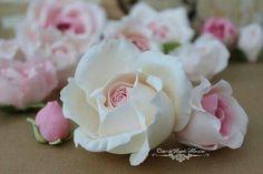Fondant rose cake decoration