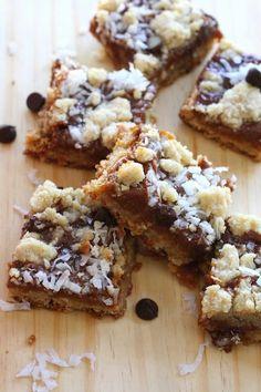Cuadritos de dulce de leche, coco y chocolate - Las delicias del buen vivir