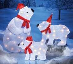 arctic polar bear family figures christmas decoration baby bear collections etc - Outdoor Polar Bear Christmas Decorations