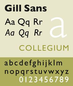 Gill Sans (1930) by Eric Gill
