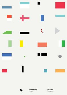 abstract flags - emphasis on color