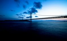Akashi Kaikyo Bridge Japan wallpapers Wallpapers) – Wallpapers For Desktop Ocean Wallpaper, City Wallpaper, Hd Landscape, Landscape Photos, 8k Ultra Hd, Ocean At Night, Sunrise Pictures, Hd Widescreen Wallpapers, Deep Blue Sea