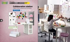 Collaboration station. Together, there's nothing we can't accomplish. #IKEA #PinToWin