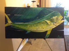 Mahi Mahi Painting on wood!