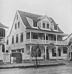 The Dutch Colony of Surinam Old Pictures, Old Photos, Indian Homes, West Indian, Nature Reserve, Capital City, South America, Colonial, Dutch