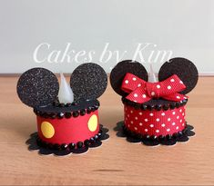 """""""Mickey & Minnie"""" Tea Light Cakes (made by Kim) Mickey Party, Minnie Mouse Party, Mickey Mouse, Tea Light Candles, Tea Lights, Cute Crafts, Crafts For Kids, Light Cakes, Candle Craft"""
