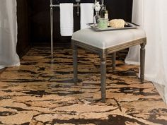 Cork Floor Modern Color Marble Effect Bathroom Flooring Ideas