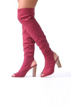 Beneath every great outfit is a killer pair of shoes, and boy, do we have an impressive range for you. Our women shoes collection is worth checkin' out from the ultra versatile ankle boots to some super summery sandals, we have a pair for every occasion. Iconic Women, Knee High Boots, Shoes Online, Peep Toe, Footwear, Night, Heels, Party, Red