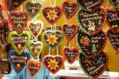 Lebkuchen Herzen zum Oktoberfest und Weihnachtsmarkt - re-pinned by www.mybestgermanr...