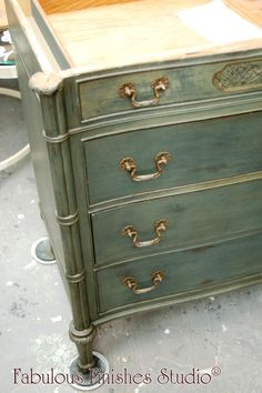 american paint company, chalk paint, clay paint, mineral paint, slate vintage finish, wax finish, dark wax, painted chest, powder room vanity, decorative hardware, swarovski crystals, fabulous finishes, patty henning, coupon code PattyH, shop online, shop.fabfinisher.com, metro detroit, paint workshops