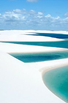 Lençóis Maranhenses National Park, Maranhão, Brazil!  This beach is no mirage, but is actually a temporary freshwater beach in the middle of sand dunes. Click through to see 15 more of the world's most unique & awesome beaches!