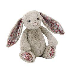 Jellycat Bamse, Bashful kanin med blomster, beige - 31 cm