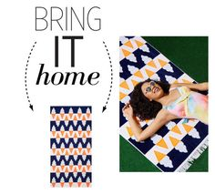 """Bring It Home: Ice Cream Kona Beach Towel"" by polyvore-editorial ❤ liked on Polyvore featuring interior, interiors, interior design, home, home decor, interior decorating and bringithome"