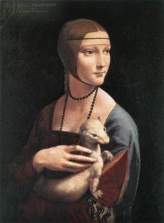 la dama y el armiño  L. Da Vinci                                                                                                                                                      Más