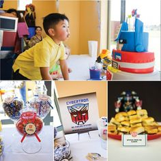 Transformers Birthday Party on http://pizzazzerie.com    I am sure this will be the theme of IV's next birthday!