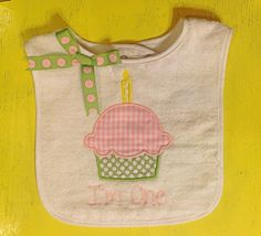 I'm One Appliqué First Birthday Bib