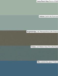 Notre palette : des teintes vert d'eau