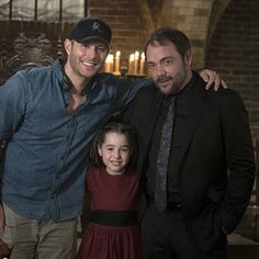 cw_supernatural: Good, evil, dark... Doesn't make a difference at the end of the night. #Supernatural via cw_supernatural on Instagram #Supernatural BTS 11x03 Bad Seed episode Directed by: Jensen Ackles || Jensen Ackles #ActionAckles || Mark Sheppard