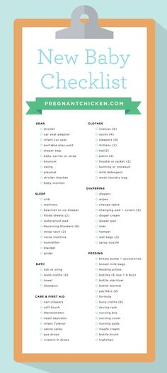 A complete checklist of all the items you'll need to prepare for a baby! It even includes newborn gear guides and suggestions to fit every budget.