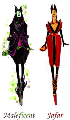 Disney Characters In High Fashion | The Mary Sue - Maleficent and Jafar