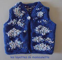 1/3 mois gilet bleu d'été : Mode Bébé par les-layettes-de-mamounette