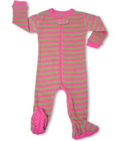 "Leveret Footed P&G ""Striped"" Pajama Sleeper 100% Cotton (Size 6M-5T) (12-18 Months, Pink & Sea Green) - http://www.discoverbaby.com/maternity-clothes/sleepwear/leveret-footed-pg-striped-pajama-sleeper-100-cotton-size-6m-5t-12-18-months-pink-sea-green/"