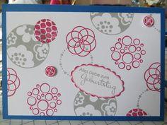 StamingirlsSmartSaturday-Challenge # 37: Stampin up Farben Schiefergrau und Rosenrot, Stempelset Circle Circus