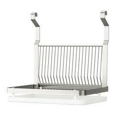 GRUNDTAL Escorredor p/loiça IKEA Pode pendurar-se na calha GRUNDTAL; liberta a superfície da bancada.