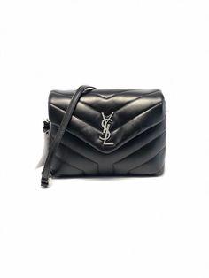 Get the trendiest Cross Body Bag of the season! The Saint Laurent Monogram Loulou Ysl Monogram Toy Black Leather Cross Body Bag is a top 10 member favorite on Tradesy. Ysl Bag, Saint Laurent Bag, Black Leather Crossbody Bag, Cloth Bags, Leather Slip Ons, Zip Around Wallet, Monogram, Shoulder Bag, Toys