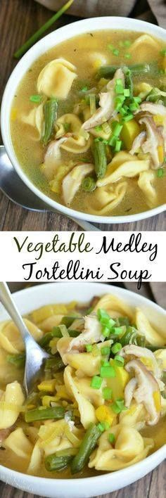 Vegetable Medley Tor Vegetable Medley Tortellini Soup. Delicious...  Vegetable Medley Tor Vegetable Medley Tortellini Soup. Delicious flavor combination of veggies in a easy satisfying soup that warms our body and soul. willcookforsmiles Recipe : ift.tt/1hGiZgA And My Pinteresting Life   Recipes, Desserts, DIY, Healthy snacks, Cooking tips, Clean eating, ,home dec  ift.tt/2v8iUYW