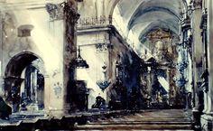 Paul Dmoch    L'église de la Sainte-Croix de Varsovie 110 x 80