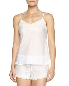 Paradise Two-Piece Voile Pajama Set, White by Natori at Neiman Marcus.