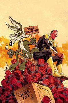 Sinestro & Wile E Coyote | Dan Panosian