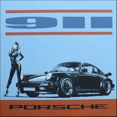 Acrylic on canvas Porsche